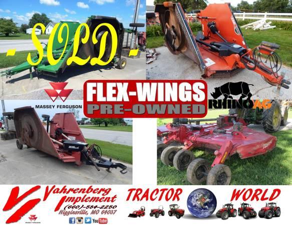 Photo USED - Flex-Wing Rotary Cutters (Bush Hog, John Deere, RhinoAG) - $6,450 (Higginsville, MO)
