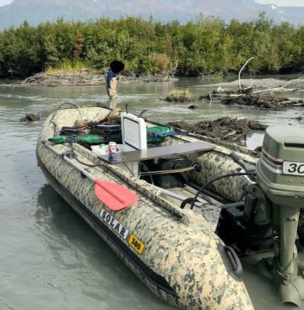 Photo 2019 Solar Jetech 380 Inflatable Jet Boat - 1985 Johnson 30hp Jet - $6,500 (Eagle River)