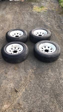 Photo 6 lug trailer tires and rims 4 wheels - $200 (Anchor Point)