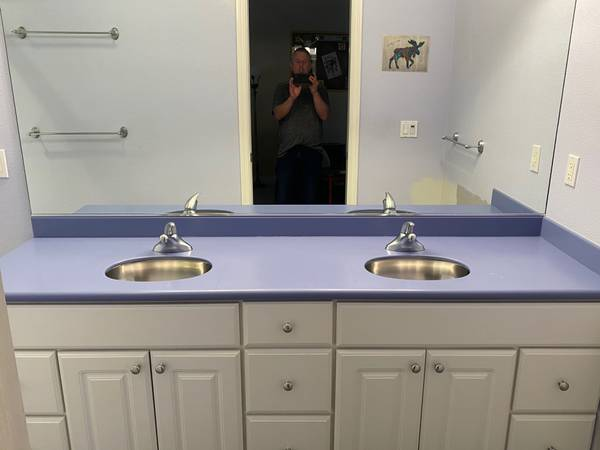 Photo Corian Bathroom Counter Top and Sinks - $175 (South Anchorage)