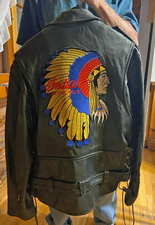Photo Motorcycle Jacket with Indian Motorcycle Logo - $120 (Petersburg)