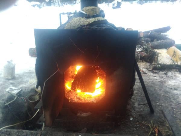 Photo Outdoor Wood fired boiler - $500 (Kenai)