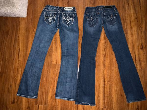 Photo Rock Revival boot cut jeans 26 - $35 each (Eagle River)