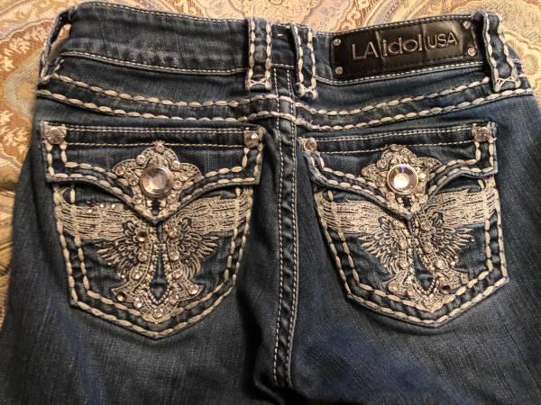 Photo Size 1 LA idol Bling Jeans - $50 (WasillaBig Lake)