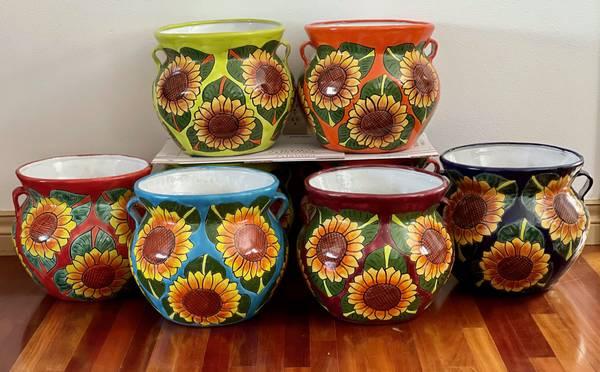 Photo Sunflower Ceramic Pots - $75 (Anchorage)