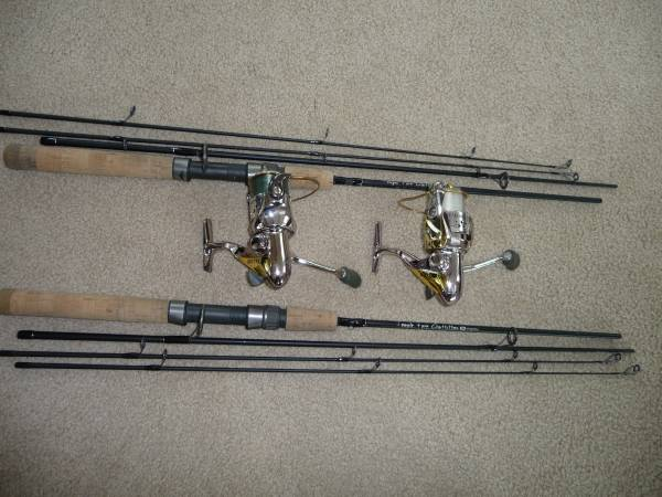 Photo Temple Fork IM6 graphite 4 piece spinning rods - $125 (Soldotna)