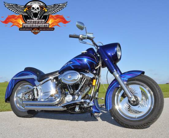 Photo 1994 HARLEY DAVIDSON VERY CUSTOM FATBOY Only 3,635 Miles One Owner - $8,995 (Absolutely Mint Condition  $8,000.00 in Extras  WPB)