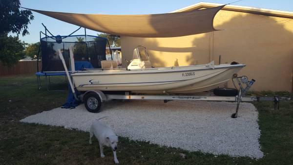 Photo 2002 Scout 162 - Yamaha 90 - Power Pole XL - Magic Tilt Trailer - $8500 (Homestead (30 min from Key Largo))