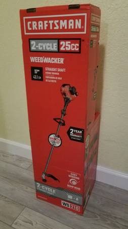Photo BRAND NEW CRAFTSMAN WS210 25-cc 2-Cycle 17-in Straight Shaft Gas Strin - $100 (Winter haven)
