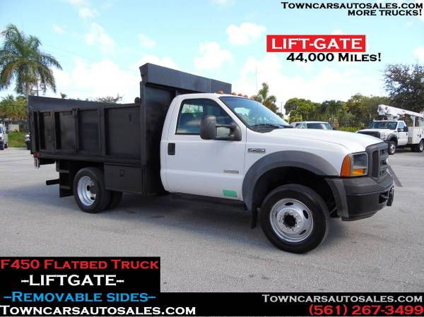Photo Ford F450 STAKE TRUCK FLATBED Utility Truck Flat Bed Truck wLIFT GATE - $27,900 (F450 Flatbed Truck)