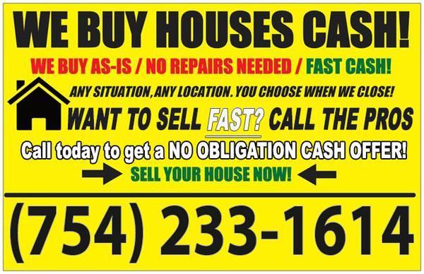 Photo GET A FREE NO OBLIGATION SAME DAY CASH OFFER (South Florida)