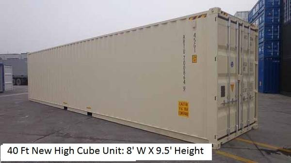 Photo NEW 20 STANDARD, 40 Ft HC AND 40 FT DOUBLE DOOR CONTAINERS (Fort Myers, Fl)