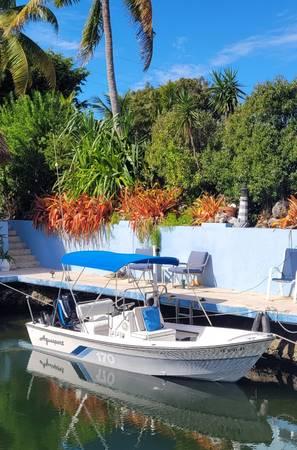 Photo Nice 1739 Aquasport Boat Motor  Trailer w Extras Runs Great  - $7,900 (Key Largo)