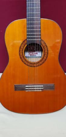 Photo Oscar Schmidt Washburn OC-1 Nylon 34 size Acoustic Guitar wCASE - $95 (n brow)