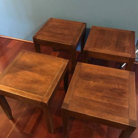 Photo Pottery Barn Tables, Vintage Wall Chandelier, Carved Bamboo Chair, New Tabletop - $50 (Key West)