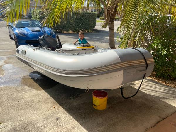 Photo RIB 350 rigid hull inflatable, yamaha 20hp - $4,600 (Marathon)