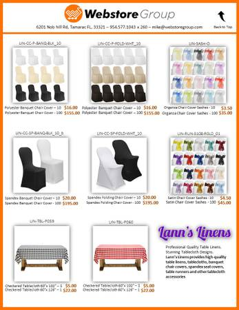 Photo Spandex  Polyester Chair covers for Folding and Banquet chairs - New - $16 (Tamarac)