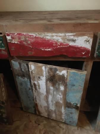 Photo Teal boat wood console dresser - $200 (Key West)