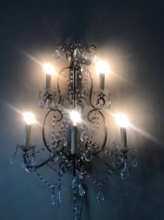 Photo Vintage Electric Wall Chandelier - $75 (Key West)