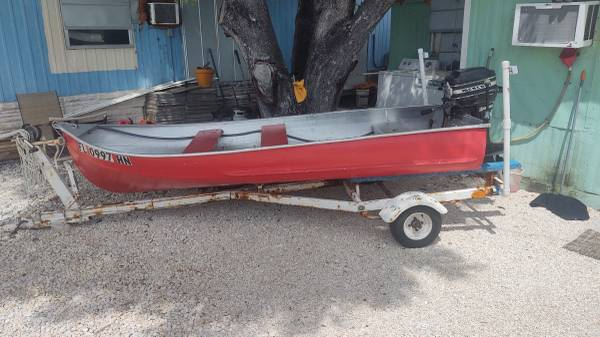 Photo boat motor and trailer for sale - $600 (Marathon)