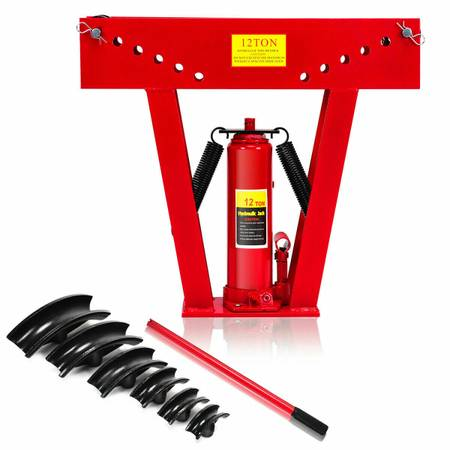 Photo 12 Ton Heavy Duty Hydraulic Pipe Bender Tubing Exhaust Tube Bending - $100 (Temple)