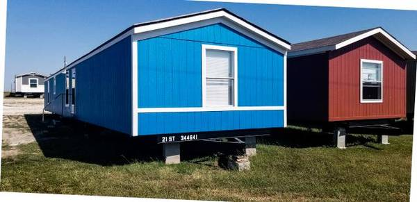Photo 3 bed 2 bath single wide used mobile home for sale. (Deliver to your land anywhere in TEXAS)