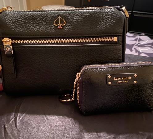Photo Authentic Kate Spade crossbody purse and card wallet - $125