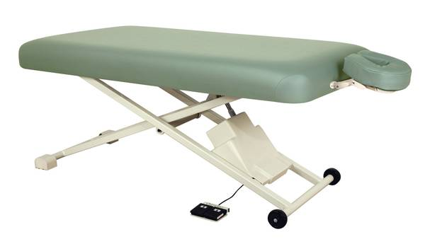 Photo Oakworks Proluxe flat top electric lift massage table - $400 (Temple)