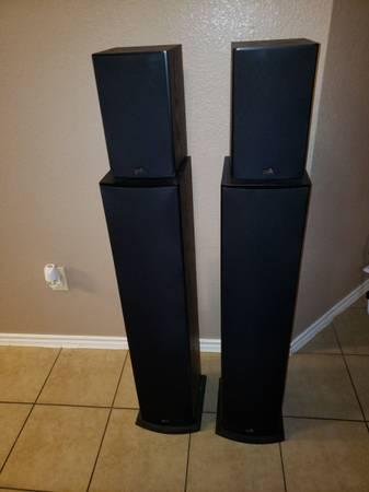 Photo Polk T50 Tower Speakers $75 each Polk T15 Bookshelf speakers $75 for the pair$30 - $450 (Harker Heights)