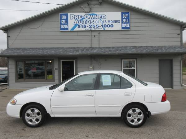 Photo 2004 Nissan Sentra 1.8 Sedan - Automatic - Fuel Saver - Low Miles- 67K - $4,400 (Pre-Owned Autos of Des Moines East)