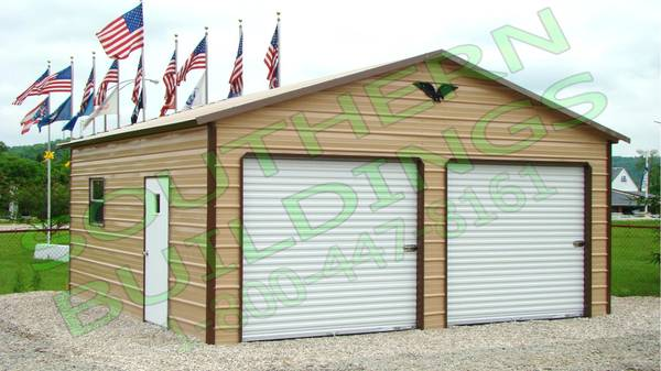 Photo 2 Car QUALITY 100 Steel Garage Metal Building Equipment Storage Shed - $3896