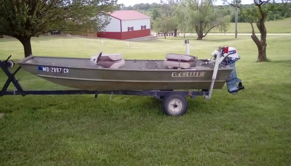 Photo For Sale 1239 Lowe Boat, Motor  Trailer - $1,650 (Perry)