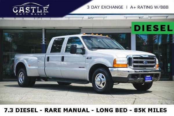 Photo 2000 Ford F-350 F350 LONG BED  7.3 DIESEL MANUAL 85K MILES Truck - $354 (Est. payment OAC)