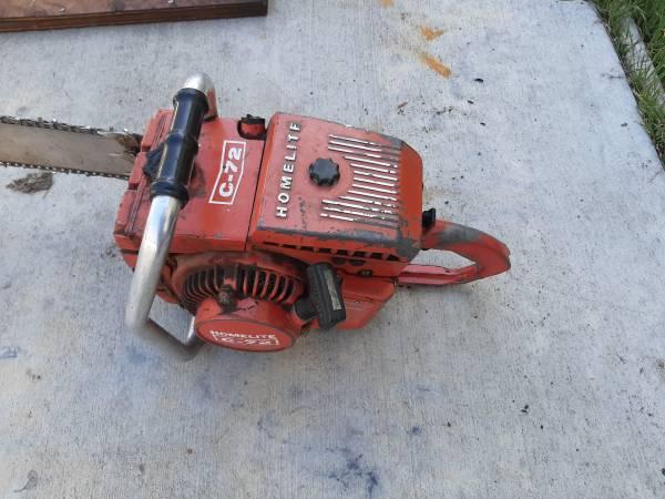 Photo Homelite Vintage Chainsaw C72 - $200 (Klamath Falls)