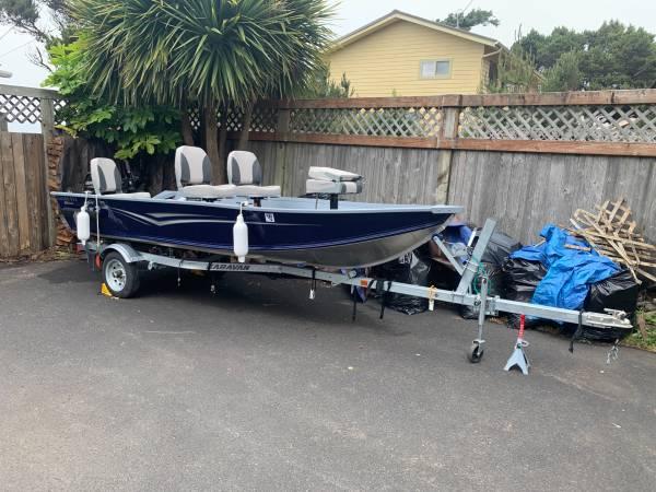 Photo Yamaha G3 14.5 ft Aluminum Fishing boat w Mercury20HP - $8,900 (Seal Rock)