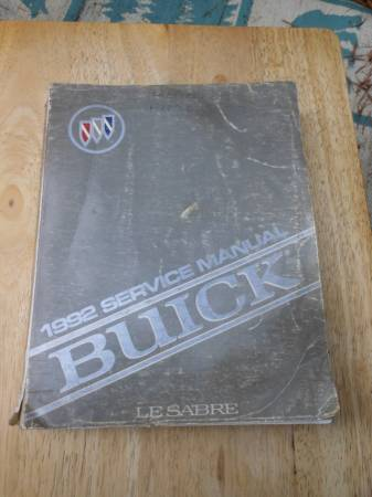 Photo 1992 Buick Lesabre Factory Service Manual - PRICE REDUCED - $20 (Heiskell,TN)