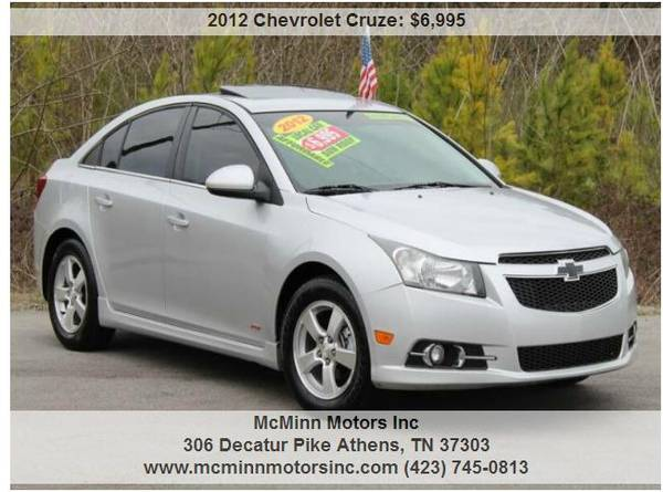 Photo 2012 Chevy Cruze LT RS - Local Trade Affordable Sunroof 38 MPG - $6995 (Athens, TN)