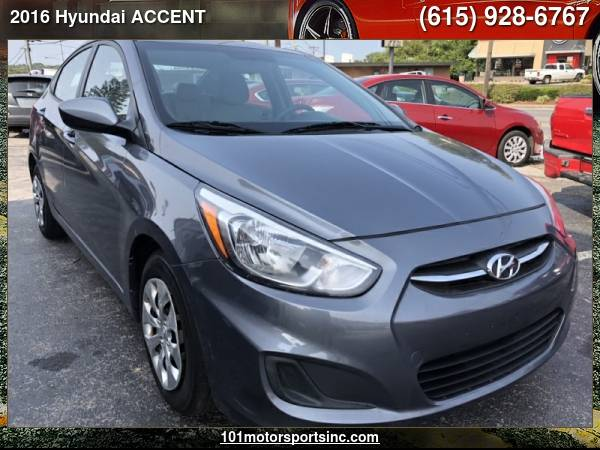 Photo 2016 HYUNDAI ACCENT SE 4-DOOR 6A 101 MOTORSPORTS - $5,882 ( Hyundai ACCENT 101 MOTORSPORTS, NASHVILLE, TN)