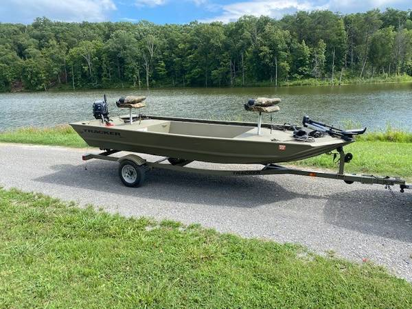 Photo 2016 Tracker Jon Boat  Trailer for Sale - $6,400 (Strawberry Plains)