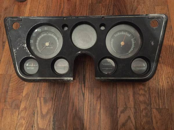 Photo 67-72 Chevy C10 Instrument Cluster - $40 (Oliver Springs)
