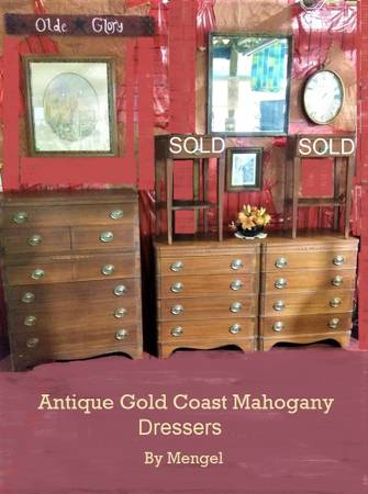 Photo Antique Bedroom Dressers Mahogany NO HOLDS 1st COME - $199 (SEVIERVILLE HWY 66)