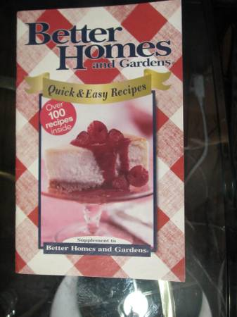 Photo Better Homes and Gardens Quick and Easy Recipes Cookbook - $4 (Knoxville)