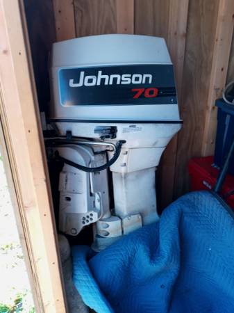 Photo For sale or trade 70hp Johnson boat motor in pristine condition - $3,000 (Harriman)