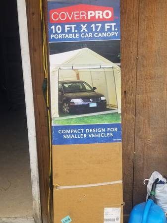Photo New in box 10 x 17 portable garage shed - $250 (Rockwood)
