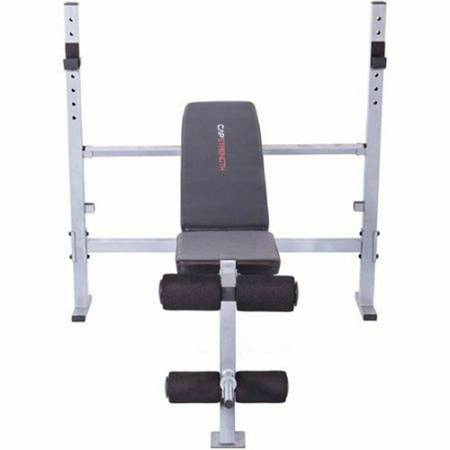 Photo Olympic Weight Bench. Includes Bar, 2 -25lb plates and 2-30 dumbells - $95 (Maryville)