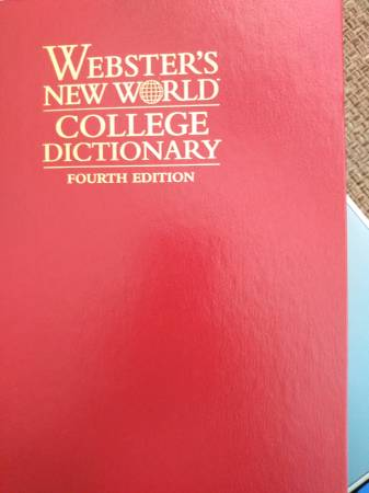 Photo Webster39s New World College Dictionary - $20 (Knoxville)