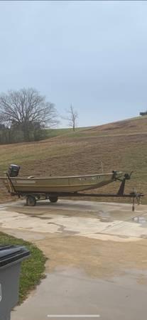 Photo Wide Jon Boat 25 four stroke - $2,900 (Russellville)