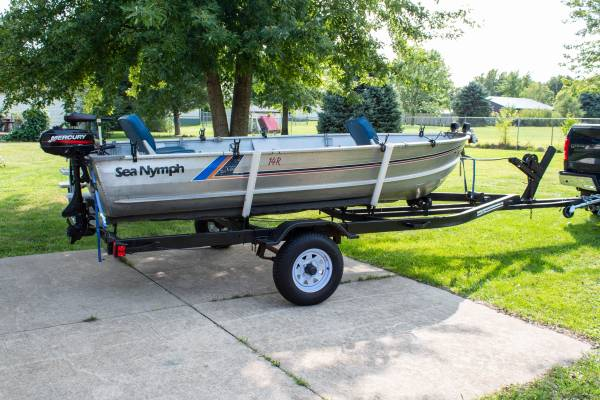 Photo 1987 Sea Nymph with trailer  2 motors - $2,800 (Russiaville)