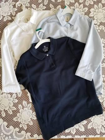 Photo LOT of 3 SCHOOL UNIFORM-Lands End girlskids shirts, Size 16  S - $15 (carmel)