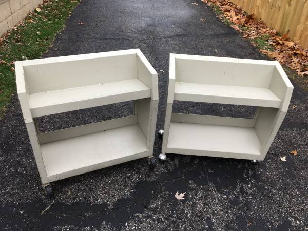 Photo Library book cart two available - $15 (Indianapolis Irvington)
